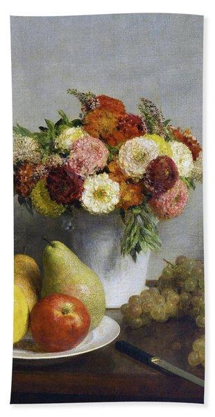 Flowers And Fruit Bath Towel
