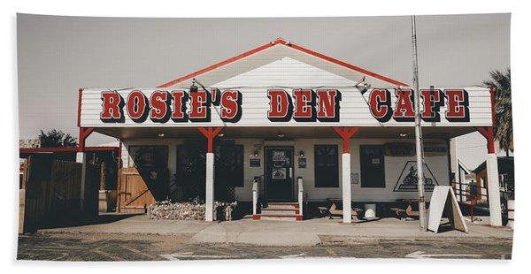 Rosies Den Cafe   Bath Towel