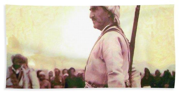 Portrait Of Melle Mutafa Barzani Hand Towel