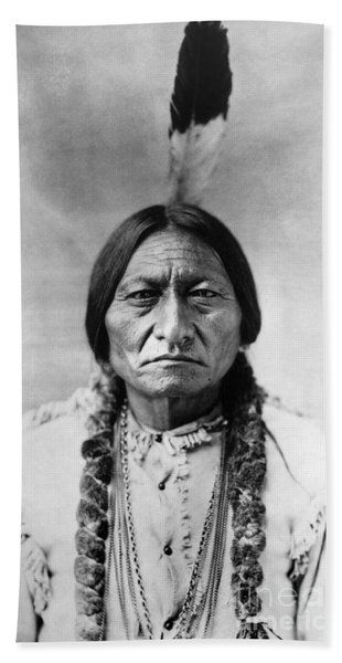 Sitting Bull 1834-1890. To License For Professional Use Visit Granger.com Hand Towel