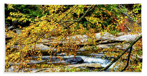 Autumn Middle Fork River Hand Towel