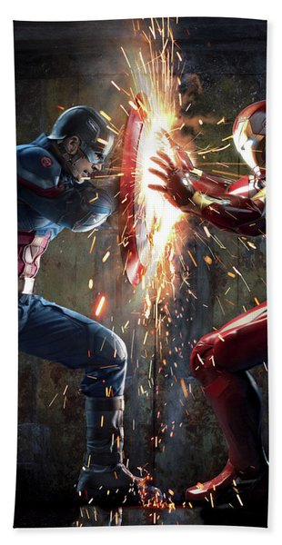 Captain America Civil War 2016 Bath Towel