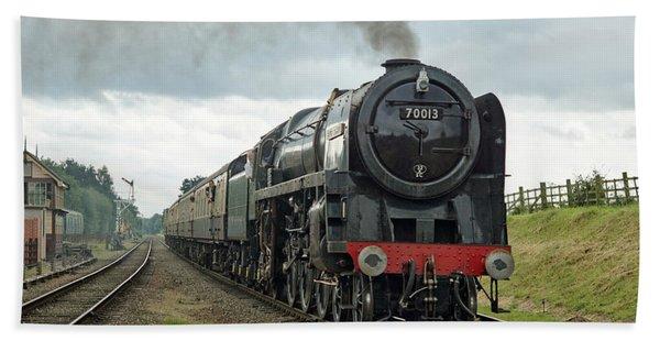 70013 Arriving At Quorn Bath Towel