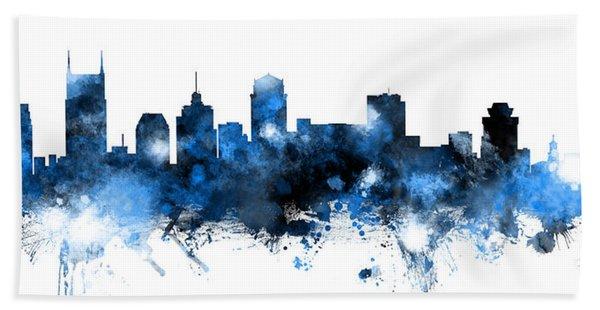 Nashville Tennessee Skyline Hand Towel