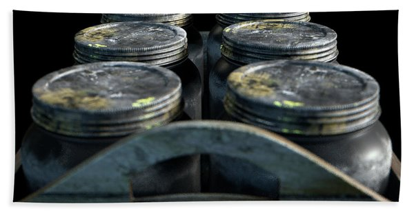 Whiskey Jars In A Crate Bath Towel
