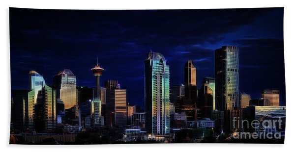 A Calgary Sunrise Hand Towel