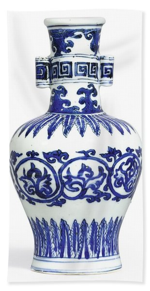 A Fine And Rare Blue And White 'arrow' Vase Mark And Period Of Wanli Hand Towel