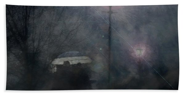 A Foggy Night Romance Hand Towel