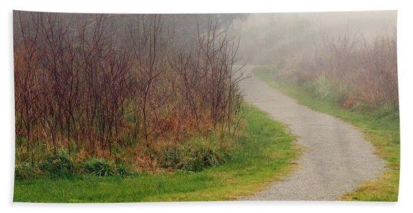 A Foggy Path Hand Towel