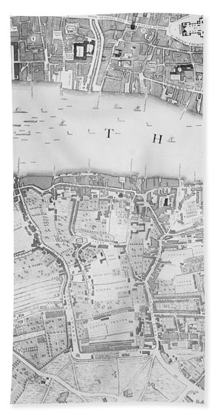 A Map Of St Pauls And Bankside Hand Towel