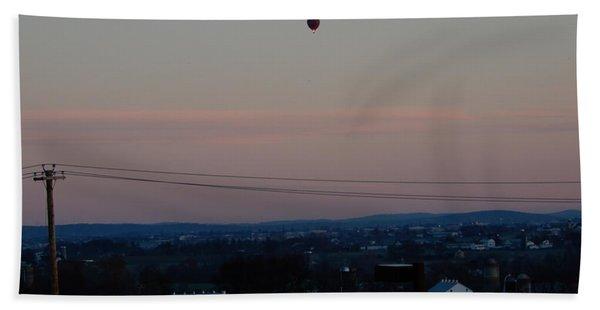A Morning Hot Air Balloon Ride Hand Towel