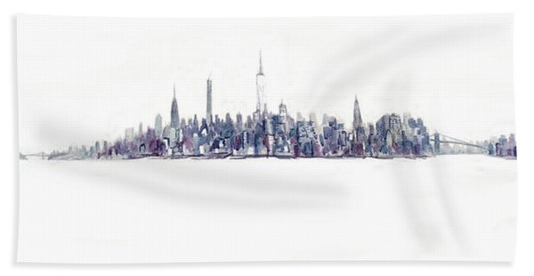 A New Year In Manhattan Hand Towel