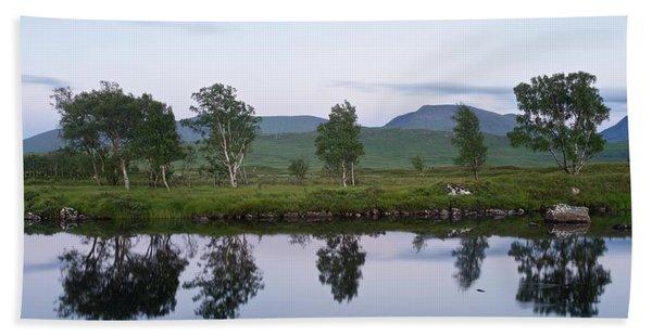A Pastel Sky Over Loch Ba Hand Towel