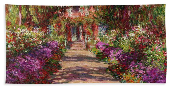 A Pathway In Monets Garden Giverny Hand Towel
