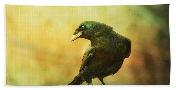 A Ravens Poise Bath Towel
