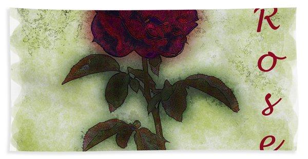 A Rose Hand Towel
