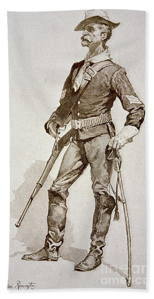 A Sergeant Of The Us Cavalry Bath Towel