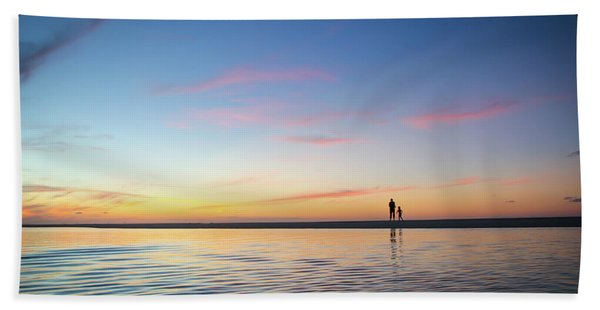 A Twilight Beach Walk Bath Towel