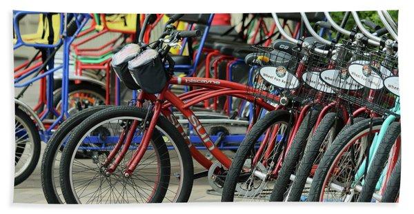 A Wheels Of Fun Bike Rental Stand, Marriott Marquis And Marina Hand Towel