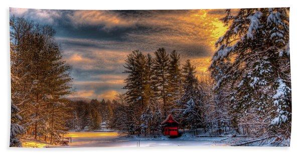 A Winter Sunset Hand Towel