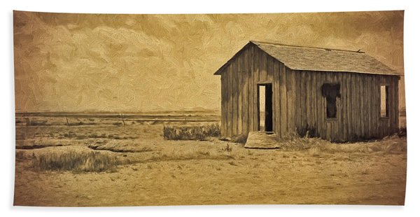 Abandoned Dust Bowl Home Hand Towel
