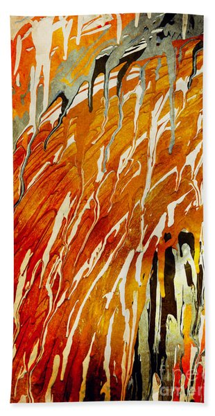 Bath Towel featuring the painting Abstract A162916 by Mas Art Studio