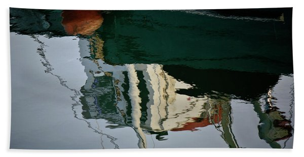 Abstract Boat Reflection II Bath Towel