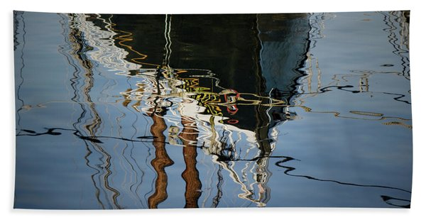 Abstract Boat Reflection IIi Hand Towel