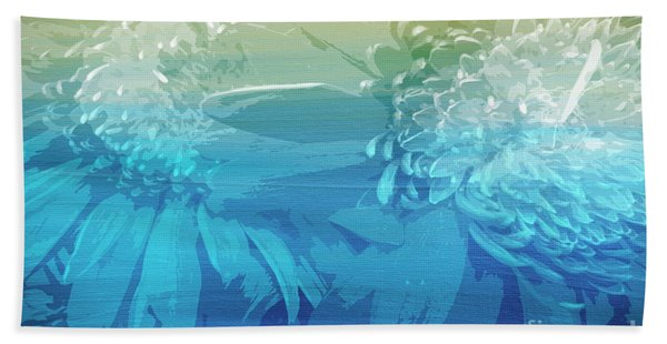Bath Towel featuring the painting Abstract Floral Dl212016 by Mas Art Studio