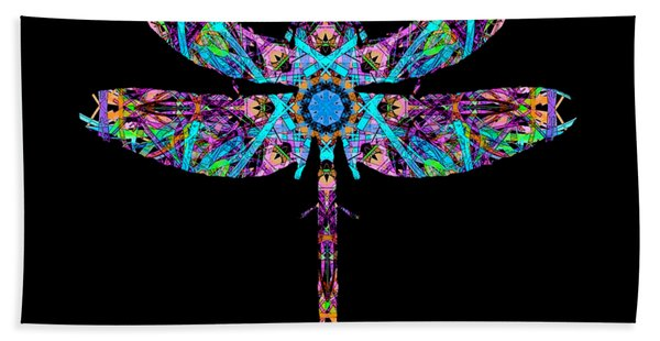 Abstract Dragonfly Hand Towel