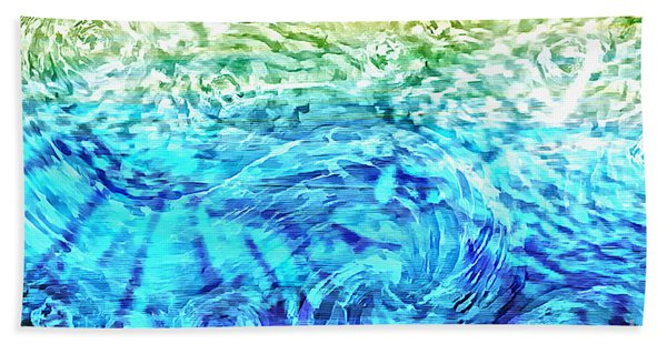 Bath Towel featuring the painting Abstract Floral Dl312016 by Mas Art Studio