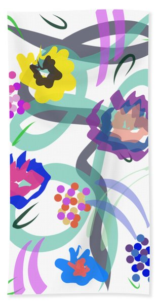 Bath Towel featuring the digital art Abstract Garden Nr 4 by Bee-Bee Deigner