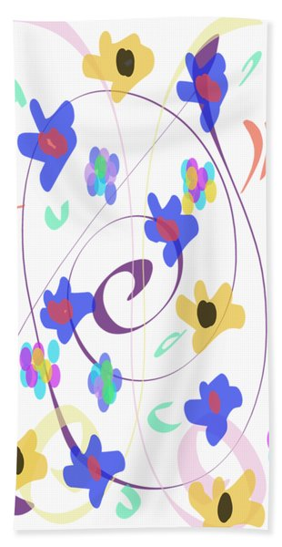 Bath Towel featuring the digital art Abstract Garden Nr 7 Naif Style by Bee-Bee Deigner