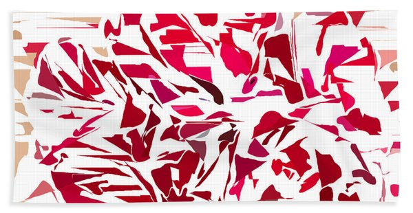 Abstract Geranium Hand Towel