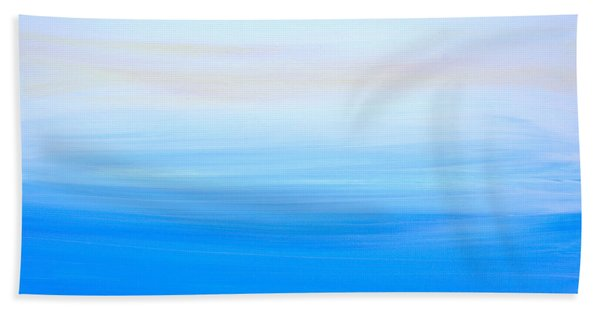 Bath Towel featuring the painting Abstract Hl312016 by Mas Art Studio