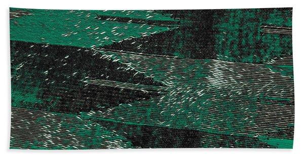 Abstract Pattern No.11 Green And Black Bath Towel