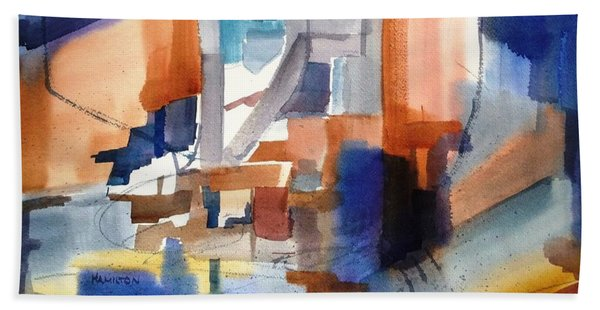 Abstract- Peggy's Cove Bath Towel