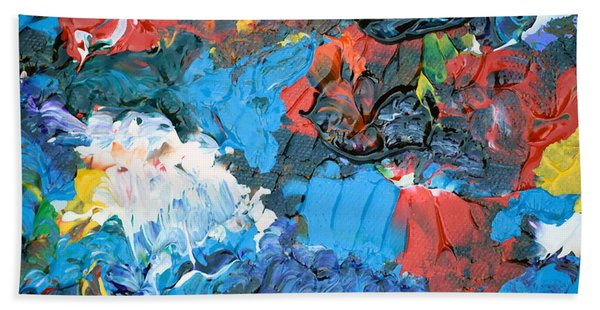 Bath Towel featuring the painting Abstract Q1112a  by Mas Art Studio