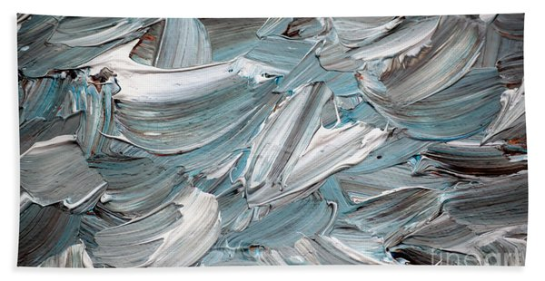 Bath Towel featuring the painting Abstract Series D010816 by Mas Art Studio