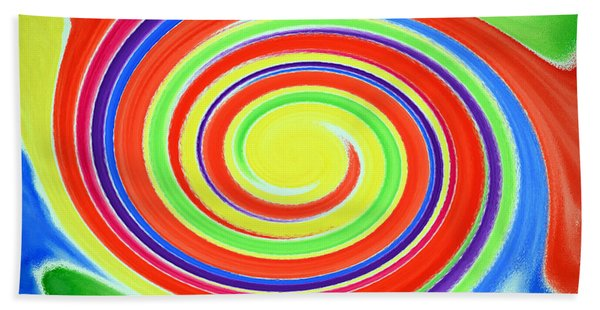 Bath Towel featuring the painting Abstract Swirl A1 1215 by Mas Art Studio