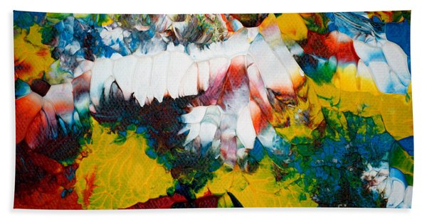 Bath Towel featuring the painting Abstract U1112a by Mas Art Studio