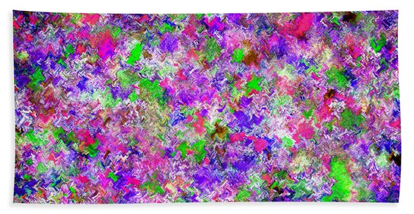 Bath Towel featuring the painting Abstract Watercolor A22416 by Mas Art Studio