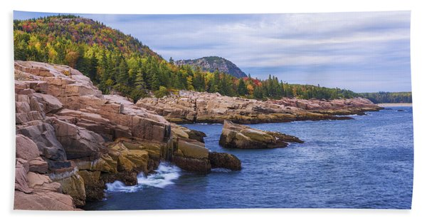 Acadia's Coast Bath Towel