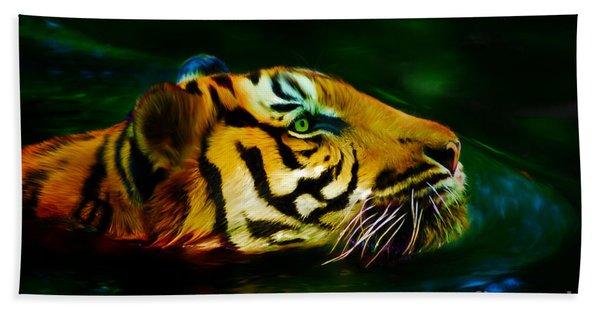 Afternoon Swim - Tiger Bath Towel