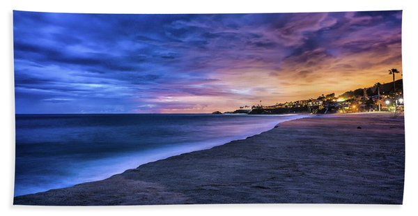 Aliso Beach Lights Hand Towel