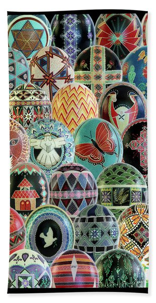 All Ostrich Eggs Collage Hand Towel