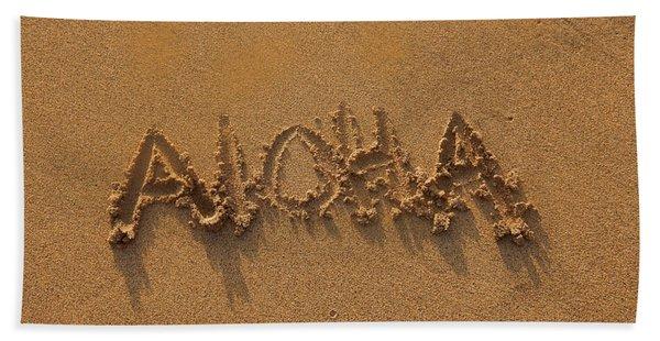 Aloha In The Sand Bath Towel