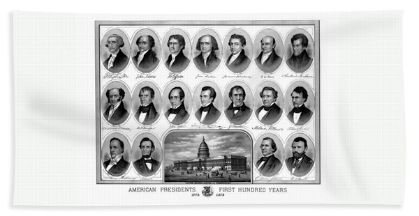 American Presidents First Hundred Years Hand Towel