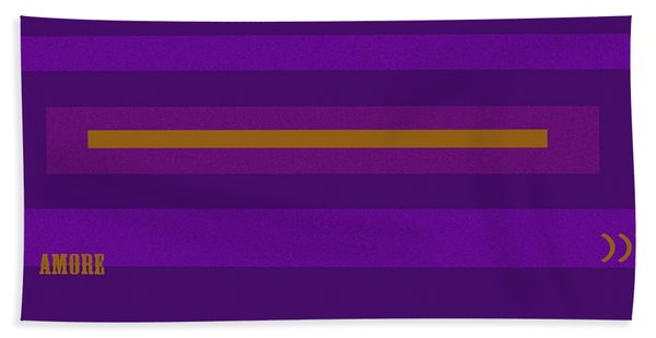 Amore Purple Hand Towel