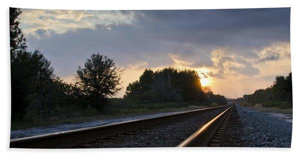Bath Towel featuring the photograph Amtrak Railroad System by Carolyn Marshall